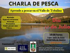 27/07 Charla de Pesca Quintana Martin Galindez 19:00h Salon de Actos Hostal Valle de Tobalina Merinades