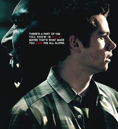 """graphics battle -profbadass vs. iamnightbird (x)round 1 - Sterek graphic using lyrics from """"You love who you love"""" from the Bonnie  Clyde musical"""