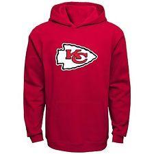 Shop eBay: NFL Kansas City Chiefs 4-7 Primary Logo Pullover Fleece Hoodie Boy Kids Small S