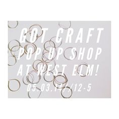 Join us and 9 other amazing spring vendors at the Got Craft? + West Elm event this Saturday, May 3rd! This is the perfect opportunity to say hello to some of your favourite local makers including; @thecandidconfectioner, @port_paper_co, @quirkypaper, @gceramicandco, @feestnaturals, @Abbie Finestone, @forestandwaves, us and more! // Each vendor will bring a selection of handmade goods including homewares, artisanal sweets, jewelry, and paper goods. See you there! // Got Craft? Pop-Up at West…