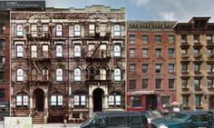 Physical Graffiti by Led Zeppelin overlaid onto Google Street View image