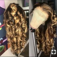 Malaysian Loose Wave (Wand Curled) Full Lace Unit Light Brown Swiss Lace Color: Highlights Density Cap Dimensions: Circumference inc. Weave Hairstyles, Pretty Hairstyles, Teenage Hairstyles, Black Hairstyles, Hairstyles Videos, Hairstyles Men, Blonde Weave, Ash Blonde, Blonde Hair