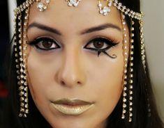 exemple maquillage facile et déguisement pour Halloween Maquillage  Cleopatre, Palette Maquillage, Tuto Maquillage,