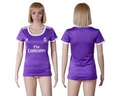 camiseta de futbol baratas real madrid 2016 2017 segund equipacion  tailandia para mujer Material del producto  Poliéster 100% b5af22c64828a