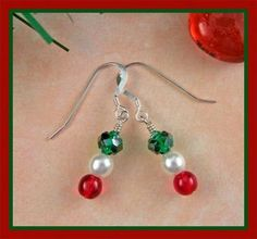 Simple but Elegant Holiday Earrings by GracefulEarthJewelry for $15.00