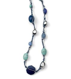 Lagoon Necklace - another like for me - can't get away from the colors of water!