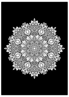 This is not an easy mandala to color As you already know, we will post every day a new mandala page to color. This beautifully mandala picture is free for you to color