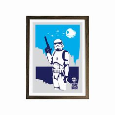 POSTER  Stormtrooper Star Wars size A3 - geekery poster, fiction poster, movie poster. $10.00, via Etsy.
