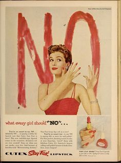 24 Beautifully Strange Vintage Lipstick Ads