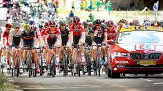 https://flic.kr/p/wD3JQD | Peloton en zone de départ fictif - TDF 2015 | A gauche, Bauke Mollema et Alejandro Valverde.  Tour de France 2015 Etape 19 (Saint-Jean-de-Maurienne / La Toussuire - Les Sybelles) - Savoie, Rhône-Alpes, France.  (07/2015) © Quentin Douchet.