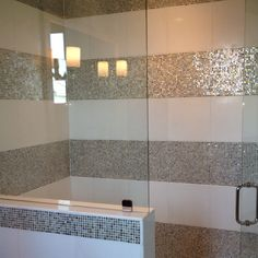 Glitzy and clean! Condo Bathroom, Basement Bathroom, Corner Bathtub, Tiles, Decoration, Sweet Home, New Homes, Clean Bedroom, House Design