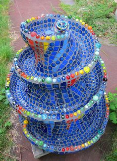 Mosaic Marble Run. Beautiful idea for a quilt, maybe the edges could be buttons?