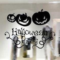Halloween Pumpkin Removable Waterproof Room Vinyl Wall Sticker