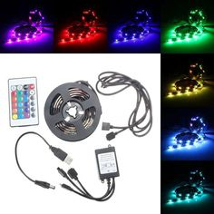USB Waterproof RGB 5050 LED Strip Light Ribbon Lamp Controller PC TV Cable Tab DC5V  Worldwide delivery. Original best quality product for 70% of it's real price. Buying this product is extra profitable, because we have good production source. 1 day products dispatch from warehouse. Fast...