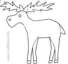 free printable moose patterns free kids crafts free kids crafts