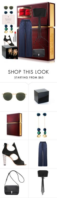 """""""Untitled #15"""" by pursue-happiness ❤ liked on Polyvore featuring Mykita, Elizabeth and James, Dinosaur Designs, Jean-Michel Cazabat, Olsen, The Row and Chantecaille"""