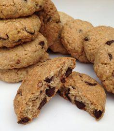 galletas de copos de avena y pepitas de chocolate