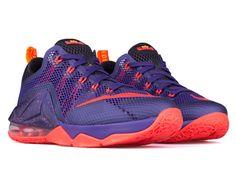 Nike K LBJ Lebron XII Low Kicks Purple Red Black 724557 565 Sz 13 NWB Cavs | eBay