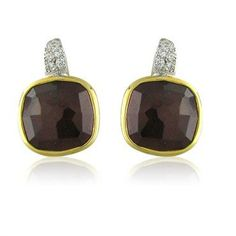 Pomellato Sherazade 18K Gold Garnet Diamond Earrings