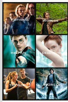 The Mortal Instruments, The Hunger Games, Harry Potter, The Selection, Divergent, Percy Jackson
