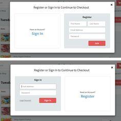 #UX #UI #login #register www.relayfoods.com