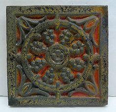 American Encaustic Vintage Tile with Berries<br/>Tiles - 63535