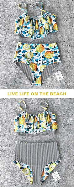 Treat yourself to something special. Only $23.8 with great quality and good service. The falbala design makes you both cute and hot. And high waist wears comfy. Cupshe knows exactly what you want for your beach break. Check it now!