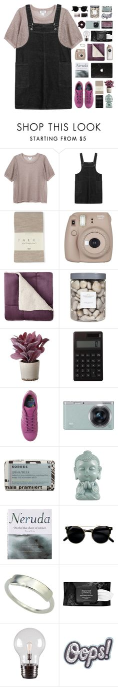 """when i fell down"" by via-m ❤ liked on Polyvore featuring Monki, Falke, Fujifilm, Threshold, NARS Cosmetics, Torre & Tagus, Muji, adidas, Samsung and Korres"