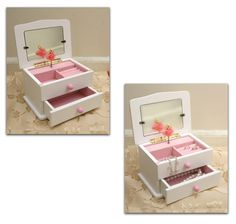 NEW Adorable Music Jewelry Box with Spinning Ballerina & Heart Shaped Photo Frame
