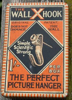 Neat 'The WallXHook the perfect picture hanger' tin by Tinternet