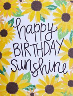 Custom edit by lechezz Happy Birthday Sunflower, Happy Birthday Sunshine, Happy Birthday Greetings Friends, Happy Birthday Wishes Photos, Birthday Congratulations, Happy Birthday Celebration, Happy Birthday Video, Birthday Blessings, Birthday Wishes Quotes