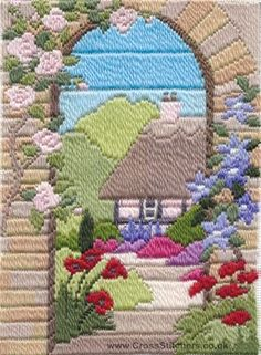 Summer Garden Long Stitch Kit from Derwentwater Designs