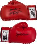 Jake LaMotta and Joe Frazier Signed Boxing Gloves