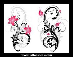 star gazer lillies back tattoos for women | ... 20Stargazer%20Lily%20Tattoo%201 Black And White Stargazer Lily Tattoo