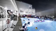 Milan Expo 2015: Czech Pavilion by Chybik + Kristof is Centered Around a Swimming Pool #zwembad #recreatie render interieur collage