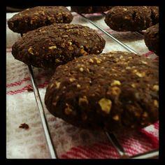 Chocolate oats cookies