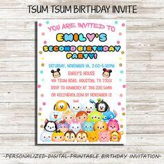Tsum Tsum Birthday Invitation : Tsum Tsum by DigitalFactoryArt