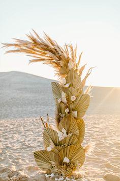 Palm Wedding, Boho Wedding, Wedding Flowers, Flower Shop Decor, Flower Decorations, Engagement Decorations, Wedding Decorations, Wedding Photo Inspiration, Elopement Inspiration