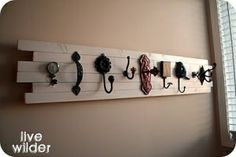 Coat/scarf rack idea....this may solve all of my life problems! haha