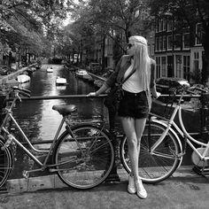From where I stand #Amsterdam  #girl #amsterdamworld #blonde #bw