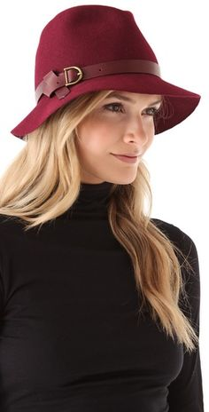 Hats can be so classy. Wish I could wear them every day! Eugenia Kim Dree Floppy Brim Mini Fedora