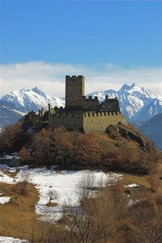 Cly castle, Saint-Denis, Valle d'Aosta North Italy