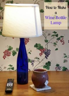 I started researching how to make a wine bottle lamp and found that it is really quite a simple process!