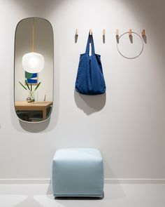 Made from powder coated steel frames with colored mirror glass, the Framed Mirrors is a gently artistic interpretation of the classic mirror. Though still functioning as reflecting glass, the colors, shapes and its ability to be arranged in groups gives the mirror a distinct character. The design comes in two sizes and three colors. #scandinaviandesign #homedecor #muutodesign Scandinavian Interior Design, Scandinavian Living, Scandinavian Furniture, Hallway Decorating, Decorating Your Home, Hallway Inspiration, Coat Hooks, Life Design, Creative Thinking