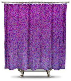 Catherine Holcombe for Shower Curtain HQ Berry Pie Fabric Shower Curtain, Standard Size - modern - Shower Curtains