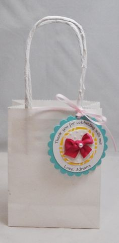Ribbons and Bows Favor Tags 1st Birthday by CardsandMoorebyTerri, $21.00