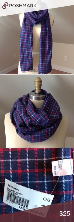 American Apparel Plaid Flannel Scarf Brand new with tags flannel scarf. Smoke free home. American Apparel Accessories Scarves & Wraps