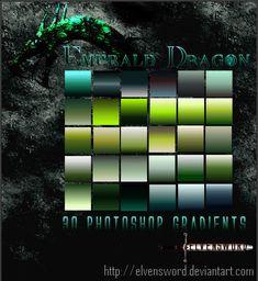 Emerald Dragon Ps Gradients by ElvenSword