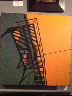 Colours, perspective, division of space, fire escape