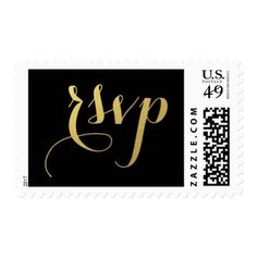 CHIC GOLD RSVP POSTAGE